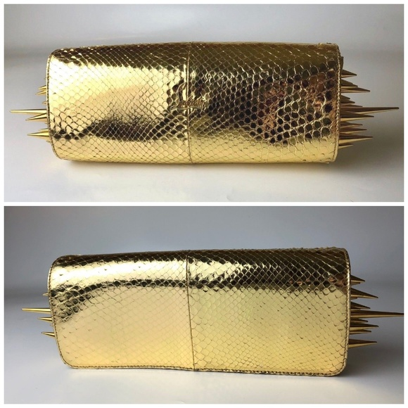 747601912dc Christian Louboutin Marquise Gold Spiked Clutch